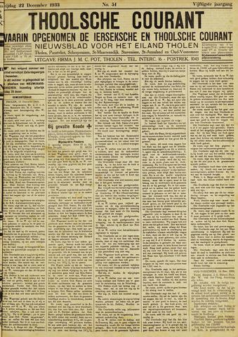 Ierseksche en Thoolsche Courant 1933-12-22