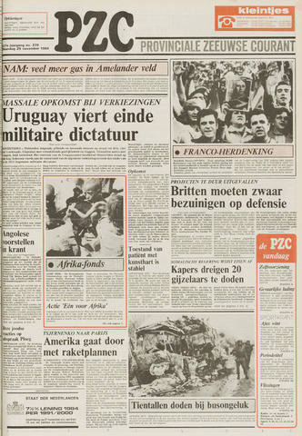 Provinciale Zeeuwse Courant 1984-11-26
