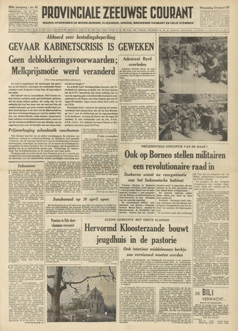 Provinciale Zeeuwse Courant 1957-03-13