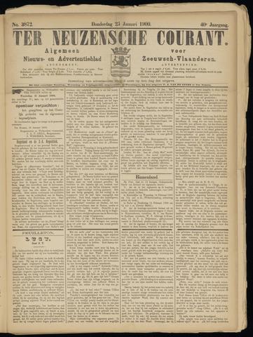 Ter Neuzensche Courant. Algemeen Nieuws- en Advertentieblad voor Zeeuwsch-Vlaanderen / Neuzensche Courant ... (idem) / (Algemeen) nieuws en advertentieblad voor Zeeuwsch-Vlaanderen 1900-01-25