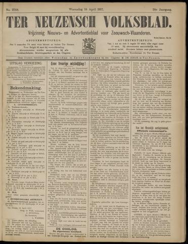 Ter Neuzensch Volksblad. Vrijzinnig nieuws- en advertentieblad voor Zeeuwsch- Vlaanderen / Zeeuwsch Nieuwsblad. Nieuws- en advertentieblad voor Zeeland 1917-04-18