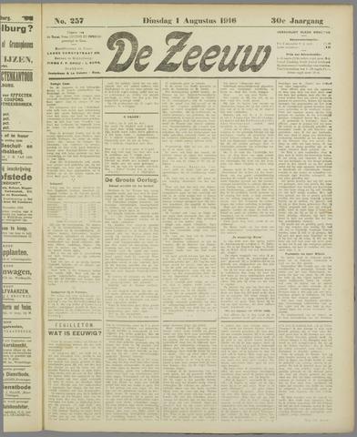 De Zeeuw. Christelijk-historisch nieuwsblad voor Zeeland 1916-08-01