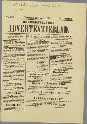 Noord-Bevelands Nieuws- en advertentieblad 1911