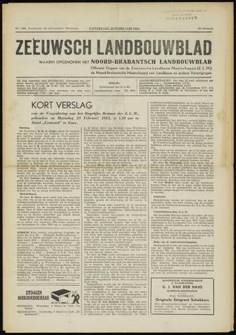 Zeeuwsch landbouwblad ... ZLM land- en tuinbouwblad 1953-02-28