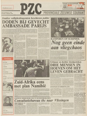 Provinciale Zeeuwse Courant 1978-08-01