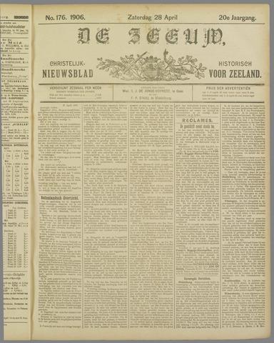 De Zeeuw. Christelijk-historisch nieuwsblad voor Zeeland 1906-04-28