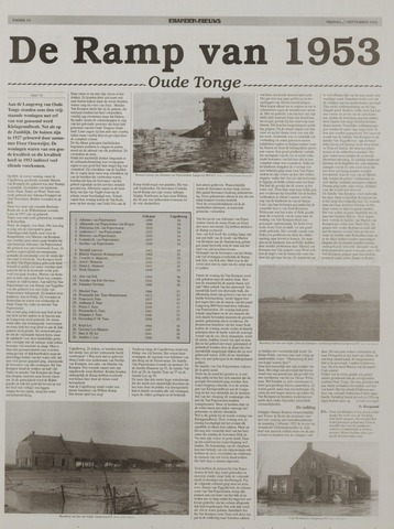 Watersnood documentatie 1953 - kranten 2002-09-27