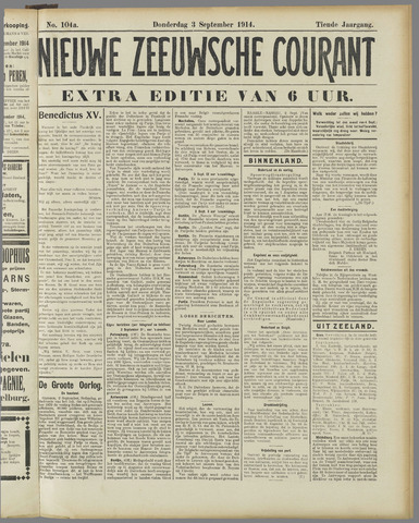 Nieuwe Zeeuwsche Courant 1914-09-03