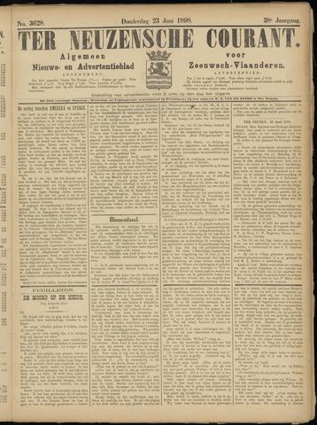 Ter Neuzensche Courant. Algemeen Nieuws- en Advertentieblad voor Zeeuwsch-Vlaanderen / Neuzensche Courant ... (idem) / (Algemeen) nieuws en advertentieblad voor Zeeuwsch-Vlaanderen 1898-06-23