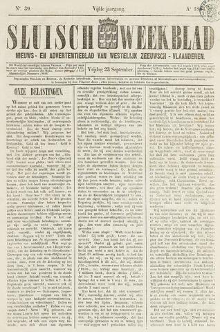 Sluisch Weekblad. Nieuws- en advertentieblad voor Westelijk Zeeuwsch-Vlaanderen 1864-09-23