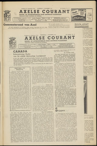 Axelsche Courant 1953-11-04
