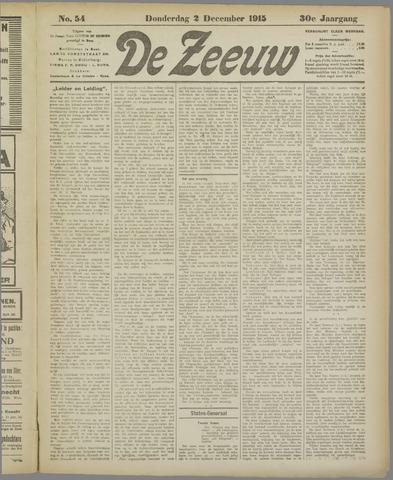 De Zeeuw. Christelijk-historisch nieuwsblad voor Zeeland 1915-12-02