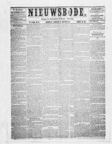 Sheboygan Nieuwsbode 1859-08-31