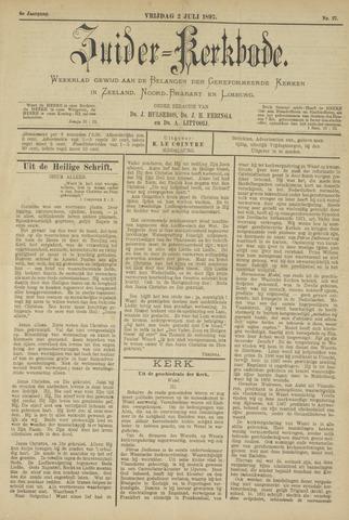 Zuider Kerkbode, Weekblad gewijd aan de belangen der gereformeerde kerken in Zeeland, Noord-Brabant en Limburg. 1897-07-02