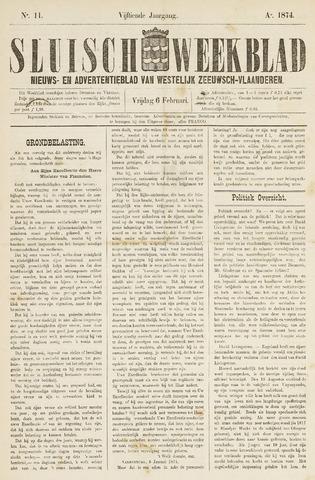 Sluisch Weekblad. Nieuws- en advertentieblad voor Westelijk Zeeuwsch-Vlaanderen 1874-02-06