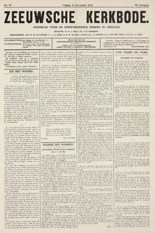 Zeeuwsche kerkbode, weekblad gewijd aan de belangen der gereformeerde kerken/ Zeeuwsch kerkblad 1938-11-11