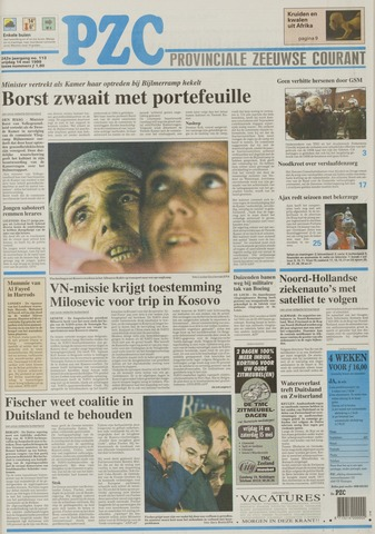 Provinciale Zeeuwse Courant 1999-05-14