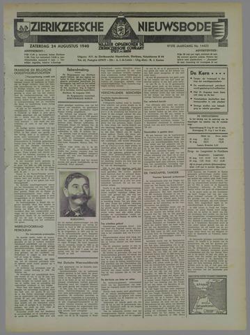 Zierikzeesche Nieuwsbode 1940-08-24