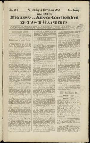 Ter Neuzensche Courant. Algemeen Nieuws- en Advertentieblad voor Zeeuwsch-Vlaanderen / Neuzensche Courant ... (idem) / (Algemeen) nieuws en advertentieblad voor Zeeuwsch-Vlaanderen 1864-11-02