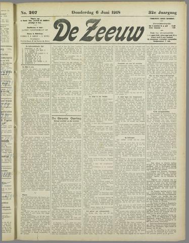 De Zeeuw. Christelijk-historisch nieuwsblad voor Zeeland 1918-06-06