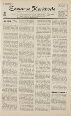Zeeuwsche kerkbode, weekblad gewijd aan de belangen der gereformeerde kerken/ Zeeuwsch kerkblad 1962-09-21