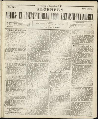 Ter Neuzensche Courant. Algemeen Nieuws- en Advertentieblad voor Zeeuwsch-Vlaanderen / Neuzensche Courant ... (idem) / (Algemeen) nieuws en advertentieblad voor Zeeuwsch-Vlaanderen 1870-12-07