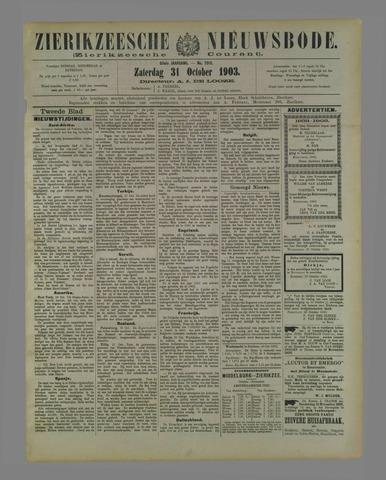 Zierikzeesche Nieuwsbode 1903-10-31