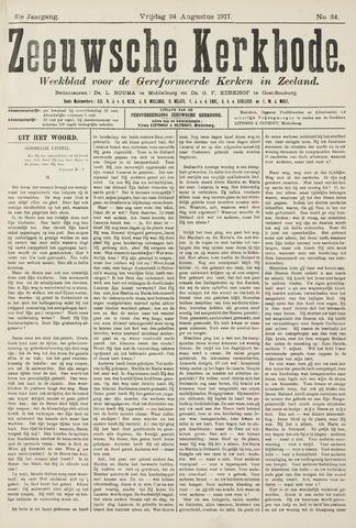 Zeeuwsche kerkbode, weekblad gewijd aan de belangen der gereformeerde kerken/ Zeeuwsch kerkblad 1917-08-24