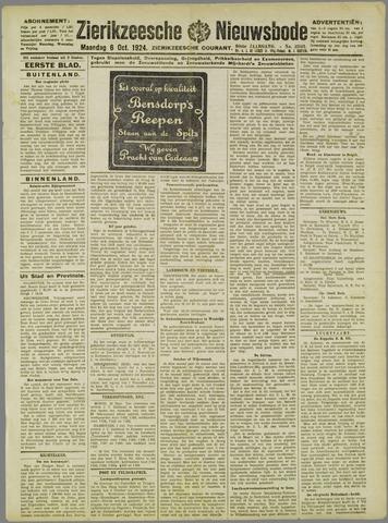 Zierikzeesche Nieuwsbode 1924-10-06
