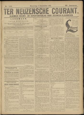 Ter Neuzensche Courant. Algemeen Nieuws- en Advertentieblad voor Zeeuwsch-Vlaanderen / Neuzensche Courant ... (idem) / (Algemeen) nieuws en advertentieblad voor Zeeuwsch-Vlaanderen 1921-12-05