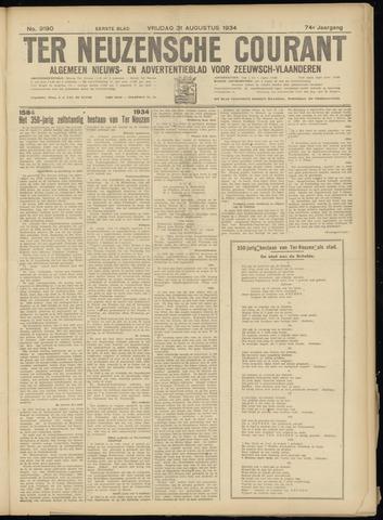 Ter Neuzensche Courant. Algemeen Nieuws- en Advertentieblad voor Zeeuwsch-Vlaanderen / Neuzensche Courant ... (idem) / (Algemeen) nieuws en advertentieblad voor Zeeuwsch-Vlaanderen 1934-08-31