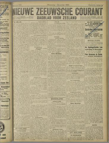 Nieuwe Zeeuwsche Courant 1920-12-01