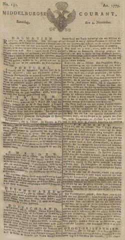 Middelburgsche Courant 1775-11-04
