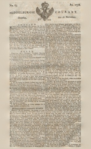 Middelburgsche Courant 1758-11-28
