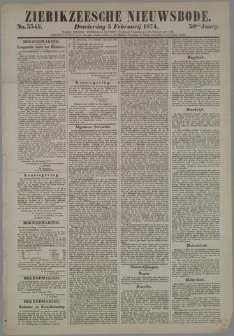 Zierikzeesche Nieuwsbode 1874-02-05