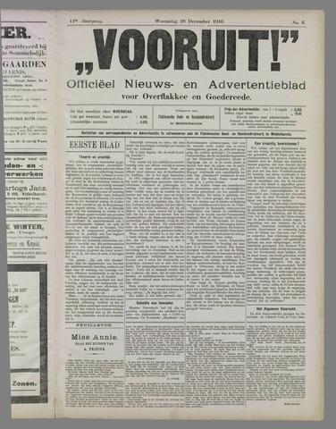 """""""Vooruit!""""Officieel Nieuws- en Advertentieblad voor Overflakkee en Goedereede 1910-12-28"""