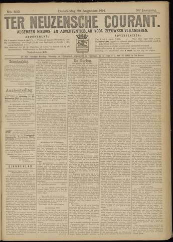 Ter Neuzensche Courant. Algemeen Nieuws- en Advertentieblad voor Zeeuwsch-Vlaanderen / Neuzensche Courant ... (idem) / (Algemeen) nieuws en advertentieblad voor Zeeuwsch-Vlaanderen 1914-08-20