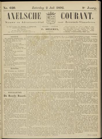 Axelsche Courant 1892-07-02