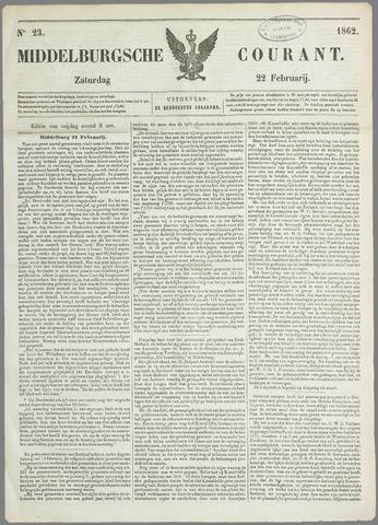 Middelburgsche Courant 1862-02-22