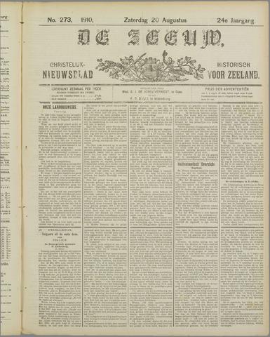 De Zeeuw. Christelijk-historisch nieuwsblad voor Zeeland 1910-08-20