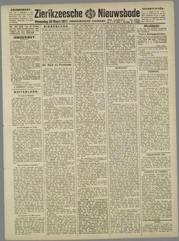 Zierikzeesche Nieuwsbode 1922-03-29