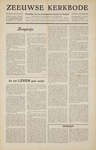 Zeeuwsche kerkbode, weekblad gewijd aan de belangen der gereformeerde kerken/ Zeeuwsch kerkblad 1956-11-09