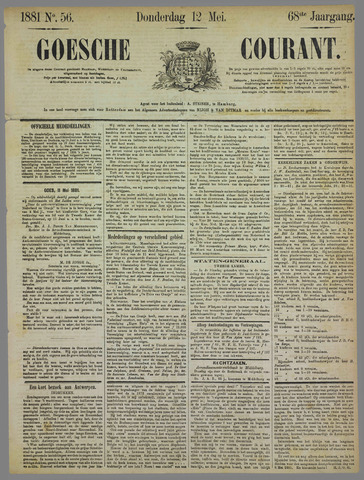 Goessche Courant 1881-05-12