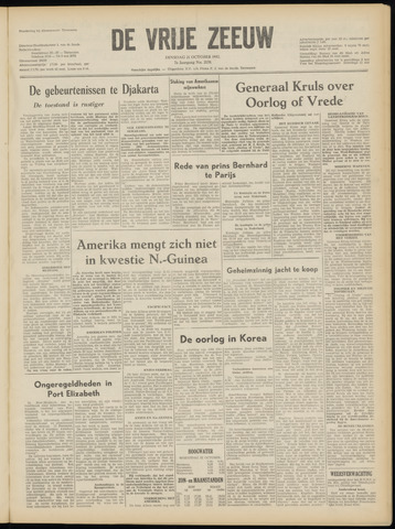de Vrije Zeeuw 1952-10-21