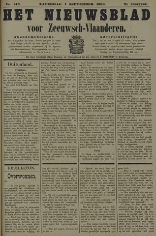 Nieuwsblad voor Zeeuwsch-Vlaanderen 1900-09-01