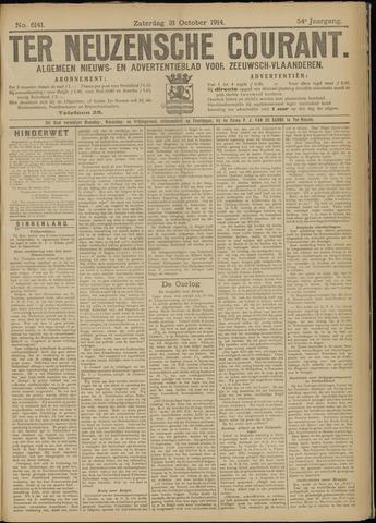 Ter Neuzensche Courant. Algemeen Nieuws- en Advertentieblad voor Zeeuwsch-Vlaanderen / Neuzensche Courant ... (idem) / (Algemeen) nieuws en advertentieblad voor Zeeuwsch-Vlaanderen 1914-10-31