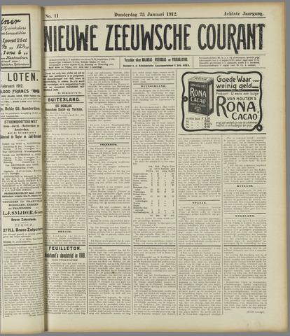 Nieuwe Zeeuwsche Courant 1912-01-25