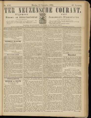 Ter Neuzensche Courant. Algemeen Nieuws- en Advertentieblad voor Zeeuwsch-Vlaanderen / Neuzensche Courant ... (idem) / (Algemeen) nieuws en advertentieblad voor Zeeuwsch-Vlaanderen 1905-09-12