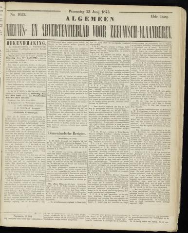 Ter Neuzensche Courant. Algemeen Nieuws- en Advertentieblad voor Zeeuwsch-Vlaanderen / Neuzensche Courant ... (idem) / (Algemeen) nieuws en advertentieblad voor Zeeuwsch-Vlaanderen 1875-06-23