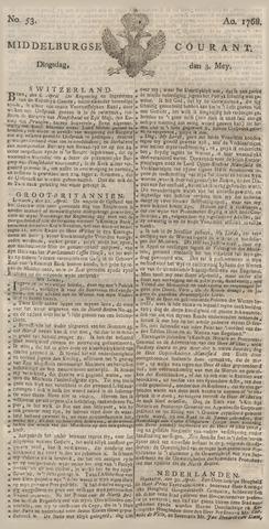 Middelburgsche Courant 1768-05-03